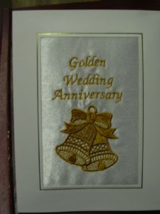 GOLDEN WEDDING ANNIVERSARY - 2 Bells